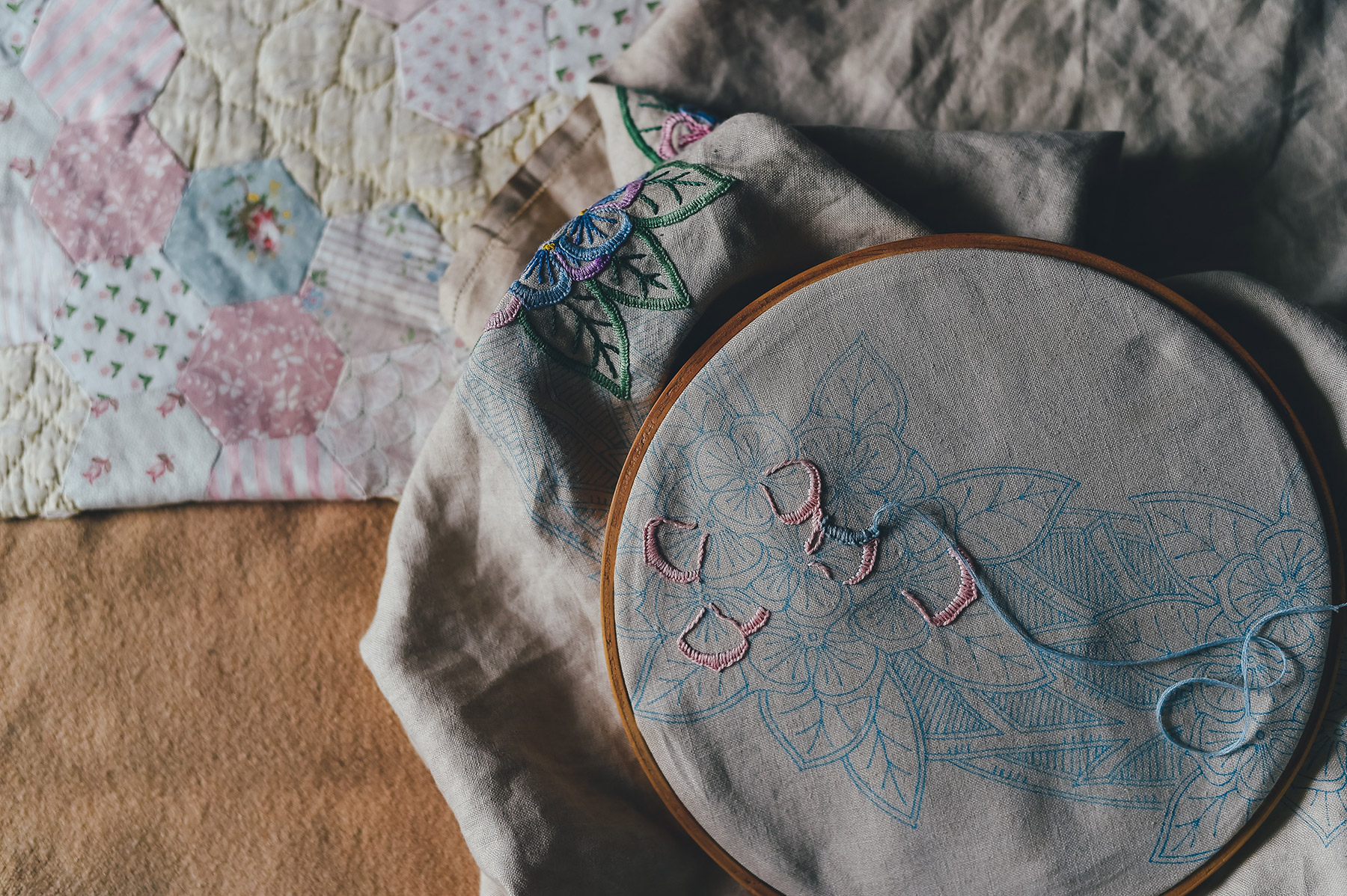 DIY Floral Pattern On Old Clothes